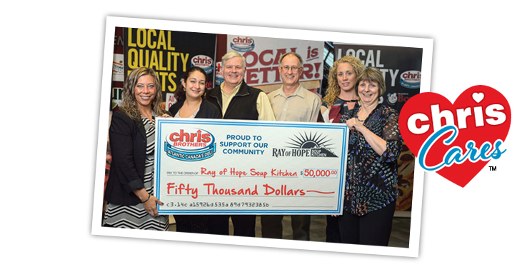 Chris Brothers Ray of Hope Donation