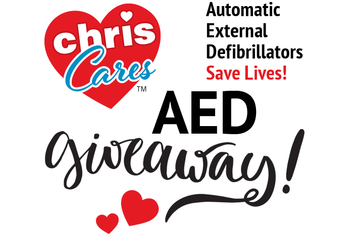 Chris Cares AED Giveaway