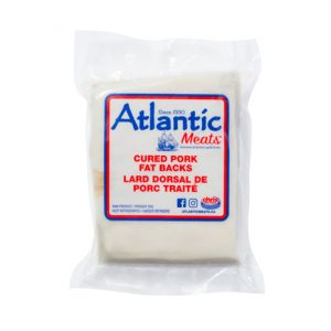 Atlantic Meats Pork Fat Backs